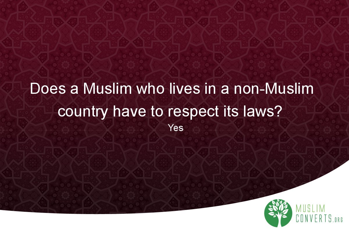 does-a-muslim-who-lives-in-a-non-muslim-country-have-to-respect-its-laws