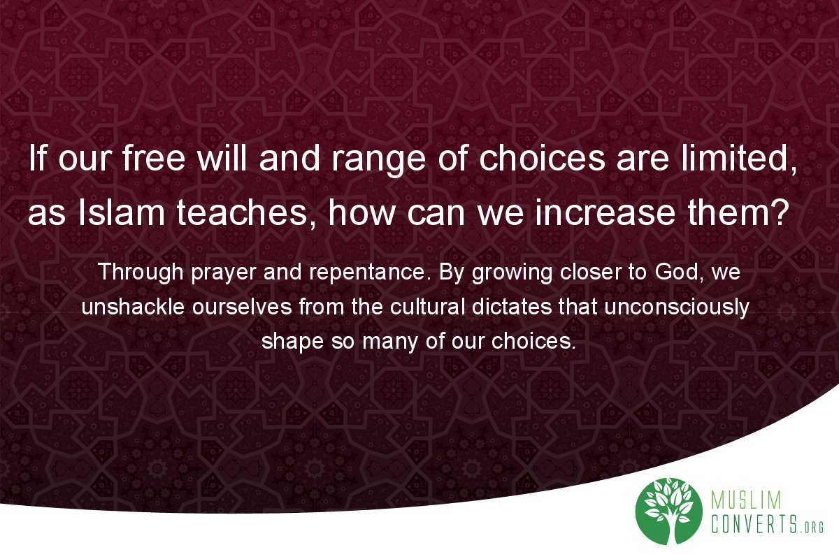 if-our-free-will-and-range-of-choices-are-limited-as-islam-teaches-how-can-we-increase-them