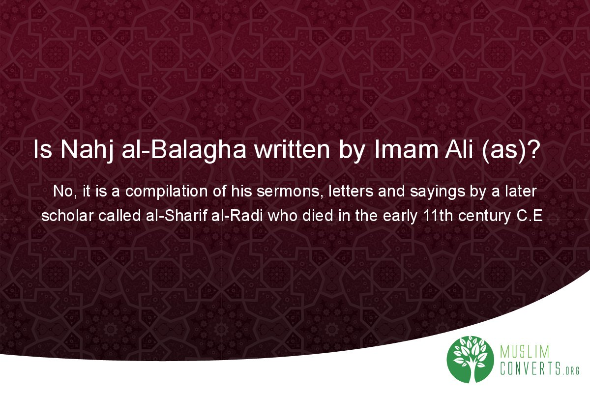 is-nahj-al-balagha-written-by-imam-ali-as