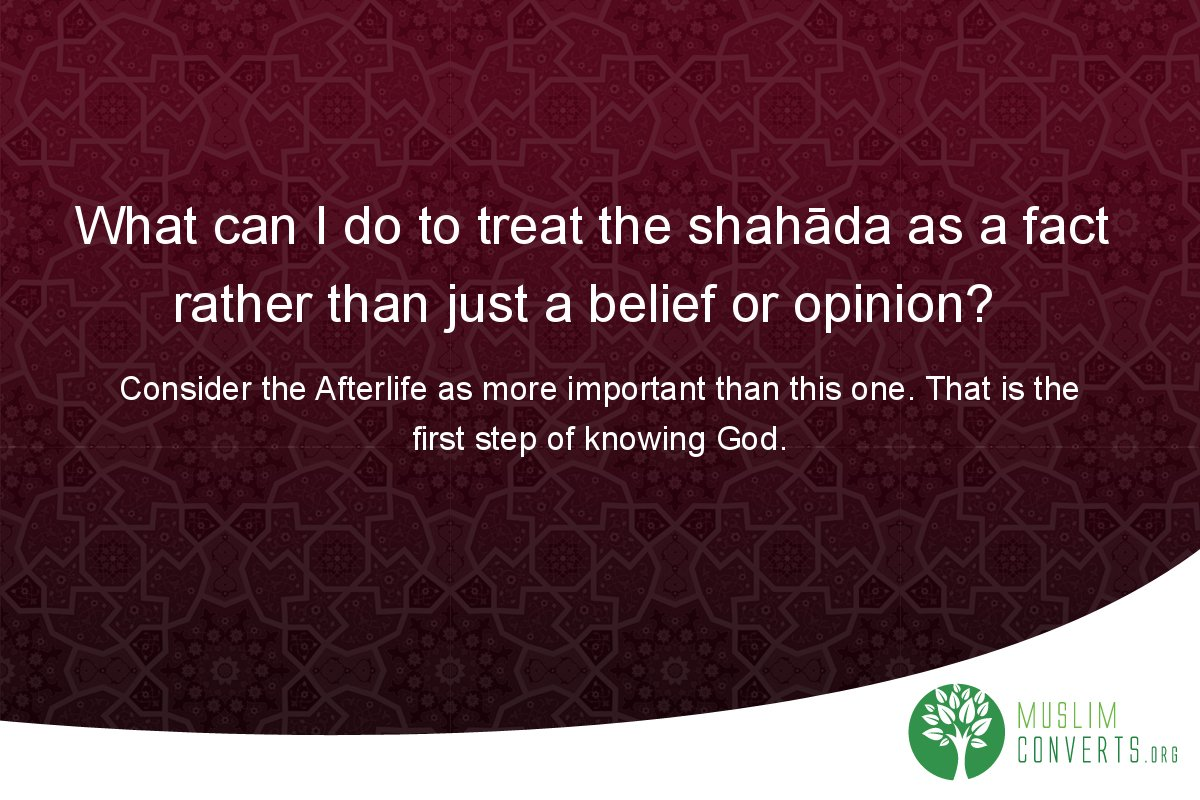 what-can-i-do-to-treat-the-shahada-as-a-fact-rather-than-just-a-belief-or-opinion