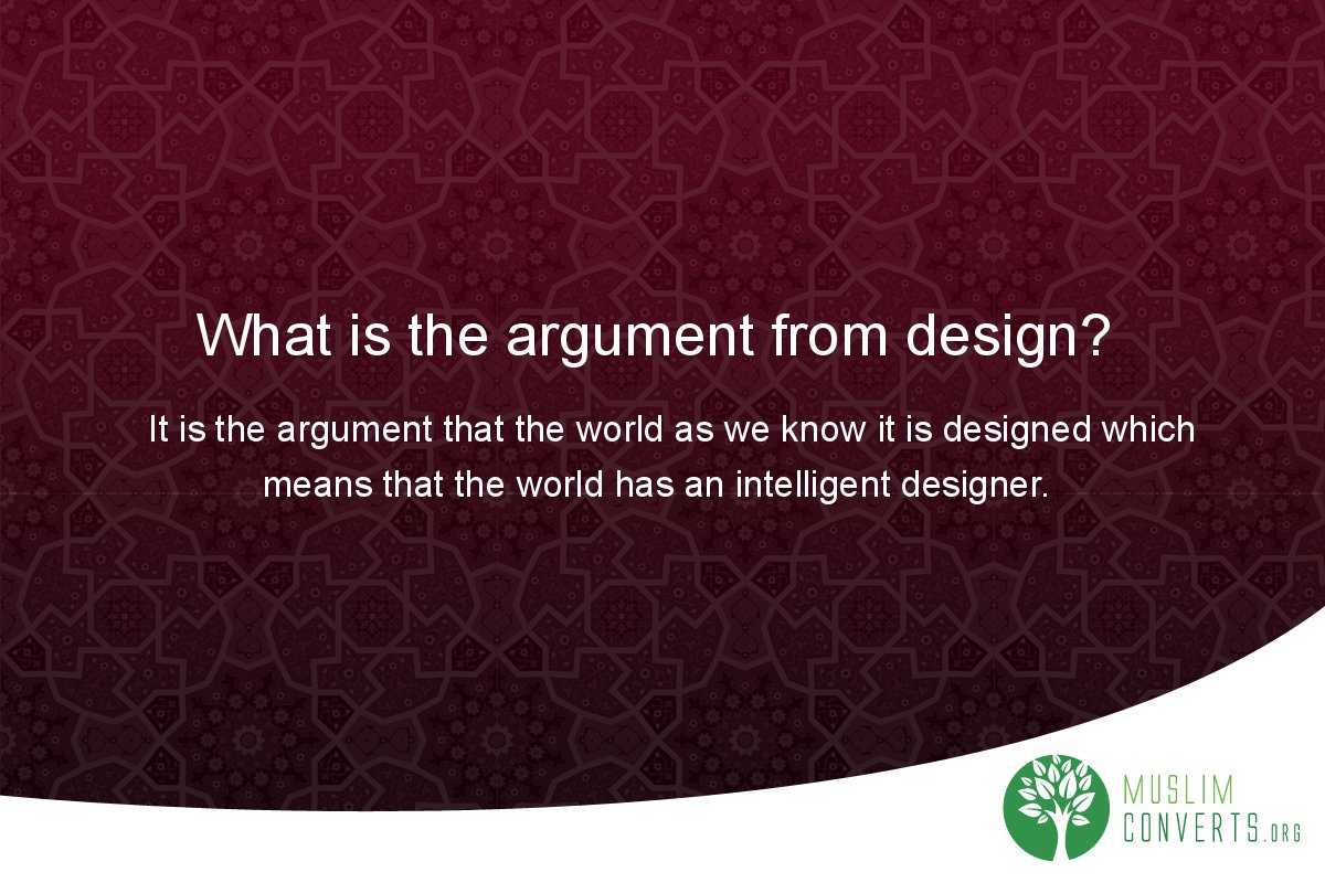 what-is-the-argument-from-design