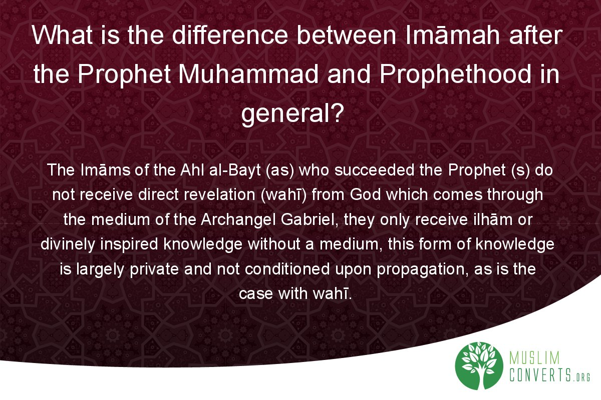 what-is-the-difference-between-imamah-after-the-prophet-muhammad-and-prophethood-in-general
