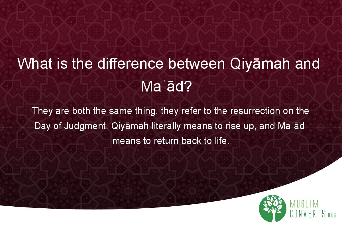 what-is-the-difference-between-qiyamah-and-ma-ad