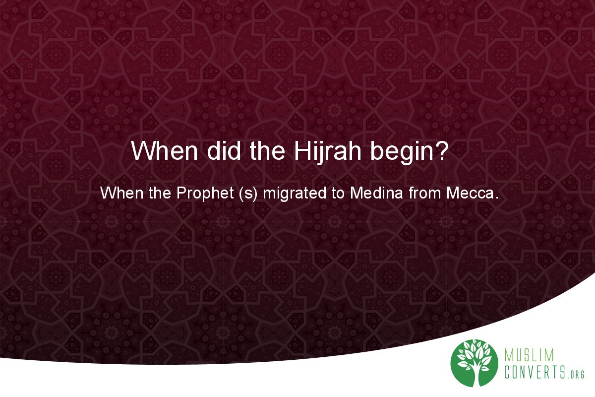 when-did-the-hijrah-begin