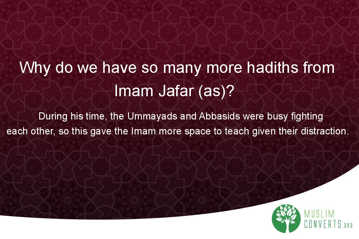 why-do-we-have-so-many-more-hadiths-from-imam-jafar-as