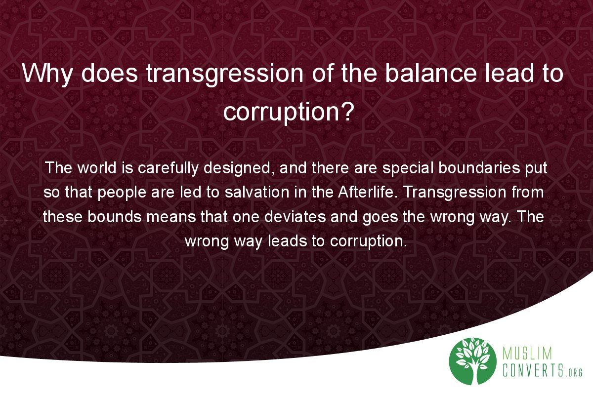 why-does-transgression-of-the-balance-lead-to-corruption